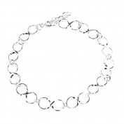 Repeating Infinity Design Sterling Silver Bracelet