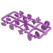 Purple Rubber Cufflinks