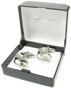 Holmes of London Novelty Silver HandCuffs Cufflinks Mens Shirt With Free Gift Box
