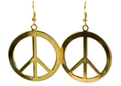 Geralin Gioielli Large Peace Gold Earrings Women's Earrings Vintage