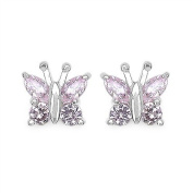 1.76 Carats Pink CZ in 2.1 Grammes Silver Earring