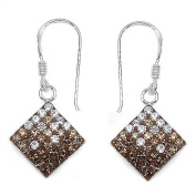 White Crystal in 1.8 Grammes Silver Earring