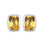 1.74 Carats Citrine in 2.15 Grammes Silver Earring