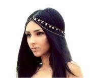 Fulltime(TM) Fashion Head Piece Hair Band Metal Head Chain Jewellery Chain Headband