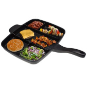 Master Pan 5 in 1 Kicthen Pan Skillet Non-Stick Grill Fry Oven , 15""
