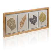 Floral Botanical Floating Leaves Print Wall Art Home Decor Picture Frame