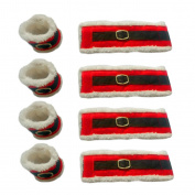 Awhao Set of 8 Christmas Napkin Rings Holders Dinner Table Decorations