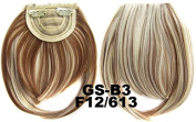 #12_613F 100% High Temperature Synthetic Fibre Clip In/On Front Hair Fringe Hair Bangs