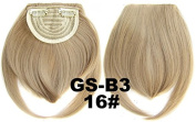 #16 100% High Temperature Synthetic Fibre Clip In/On Front Hair Fringe Hair Bangs