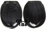 #1B 100% High Temperature Synthetic Fibre Clip In/On Front Hair Fringe Hair Bangs