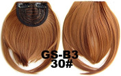 #30 100% High Temperature Synthetic Fibre Clip In/On Front Hair Fringe Hair Bangs