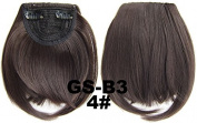 #4 100% High Temperature Synthetic Fibre Clip In/On Front Hair Fringe Hair Bangs