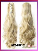 #M24/613 Wavy Claw Hair Ponytail Hair Pieces