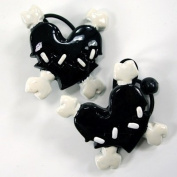 Kreepsville 666 Scrunchie Set Stitch Heart Black