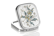 Pocket mirror with Square Crystals Multi-Coloured