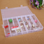28 Slots Adjustable (Part Detachable)Portable Clear Hard Plastic Jewellery , Ring Earring,beads, Sewing,pills,accessories Storage Box