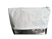Philip Kingsley Large Grey & Silver Make Up Bag / Beauty Pouch / Toiletries Bag