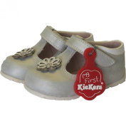 Kickers Kick Hi Dot Baby Silver Leather First Walkers Shoes