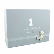 Baby Boy's 1st Birthday Gift Keepsake Box With Teddy