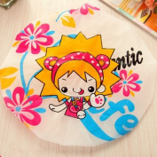 Cartoon bathing shower cap waterproof,girl