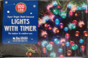 New - 100 Coloured LED fairy lights - indoor or outdoor - multi function - battery operated - with timer