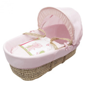 Beary Nice Pink Moses Basket Dressings only