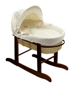 Kinder Valley Dimple on Palm Moses Basket and Walnut Rocking Stand Bundle
