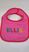 """Ellie"" named baby bib"