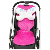 Reversible Pushchair Liner mattres & ANGEL'S WINGS set Minky/ Cotton