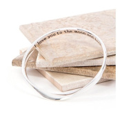 Hidden Message Bangle 'I Love you to the moon and back'