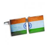 Distressed India Split-Flag Cufflinks X2BOCS218