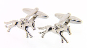 Soprano Silver Horse Racing Country Cufflinks