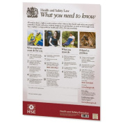 HSE Health and Safety Law Poster PVC Sign - A2 W420xH595mm