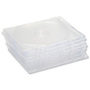 Compucessory CD Case Slimline Jewel for 1 Disc W125xD5xH124mm Clear Ref CCS907948 [Pack of 10]