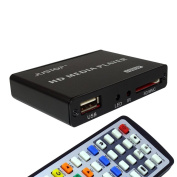 JUSTOP HD Media Box Player Full HD 1080P HDMI Out, 5.1 Surround Sound Out - Play Movies / Music / Photos / Files directly on your TV