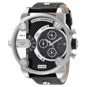 Diesel Men's DZ7256 Chronograph Black Leather Strap Watch,