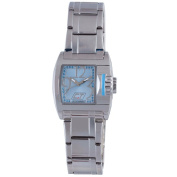 Chronotech Women's Blue Dial Polished Stainless Steel Watch