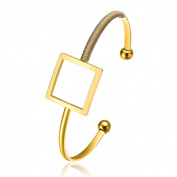 Alberto Moore Goldplated Dried Herb�Thread Square Bangle
