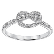 Cambridge Sterling Silver 1/4ct TDW Diamond Infinity Love Knot Ring
