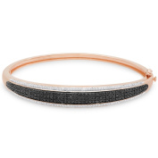 Finesque Rose Gold Over Sterling Silver 1/2 Ct TDW Diamond Bangle