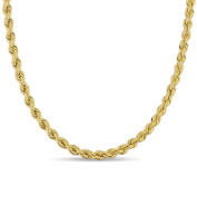 Miadora Signature Collection 10k Yellow Gold Men's Hollow Rope Necklace