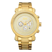 Victor Men's 18k Gold-plated Multi-function JB-8102-A Diamond Watch