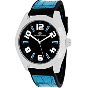 Oceanaut Men's OC7510 Vault Round Blue Leather and Silicone Strap Watch