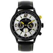 Christian Van Sant Men's Speedway Watch with Silver-and-Yellow Dial