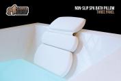 The Original GORILLA GRIP (TM) Non-Slip Spa Bath Pillow Featuring Powerful Gripping Technology, 50cm x 38cm , Luxury 3-Panel Design.