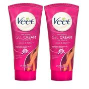 Pack of 2 Veet Fast Acting Gel Cream Hair Remover, Essential Oils and Velvet Rose 6.78 oz