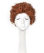 Unisex Short Curly Cosplay Wig Orange