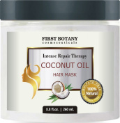 Coconut Oil Hair Mask, 260ml Restorative Hair Mask, Deep Conditioner for Damaged & Dry Hair, Heals & Restructures Hair Shaft & Growth, Nourishes Scalp, Removes Residue Buildup ..Sulphate Free