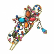 Sanwood Womens Floral Butterfly Vintage Duckbill Hair Clip