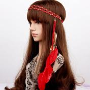 STEVE YIWU® Bohemia Feather Headband Tassel Headdress Carnival Headpiece Bonfire Party Hair Accessories